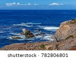 blue sea   sky  white clouds ... | Shutterstock . vector #782806801