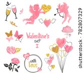 valentines set. collection of... | Shutterstock .eps vector #782807329