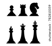 black chess figures silhouettes ... | Shutterstock . vector #782810359