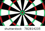 colorful darts board target | Shutterstock . vector #782814235