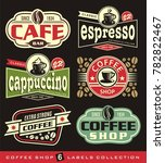 coffee labels and stickers... | Shutterstock .eps vector #782822467