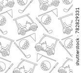 cart ball flag golf pattern...   Shutterstock .eps vector #782829331