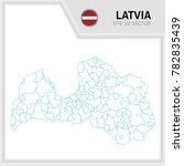 latvia map and flag in white... | Shutterstock .eps vector #782835439