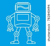 robot with monitor head icon... | Shutterstock . vector #782840494