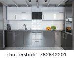 modern white and gray... | Shutterstock . vector #782842201