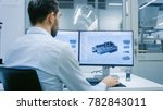 engineer  technician working on ... | Shutterstock . vector #782843011