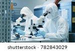two engineers  scientists ... | Shutterstock . vector #782843029