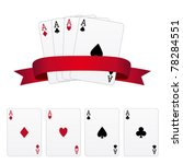 four aces | Shutterstock .eps vector #78284551