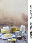 food fats  set of dairy product ...   Shutterstock . vector #782845621