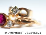 real gold rings with gem close...   Shutterstock . vector #782846821