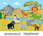 Wild Animals With Landscape  ...
