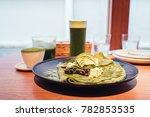 matcha  drinks  muffins  food | Shutterstock . vector #782853535