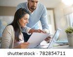 business people working... | Shutterstock . vector #782854711