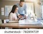 business people working... | Shutterstock . vector #782854729