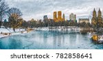 new york city central park in... | Shutterstock . vector #782858641
