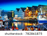 night tromso postcard background | Shutterstock . vector #782861875