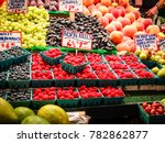 fresh juicy and colorful ... | Shutterstock . vector #782862877