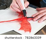 3d printing pen working by... | Shutterstock . vector #782863339