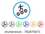 man climb dash coins rounded... | Shutterstock .eps vector #782870671