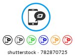 smartphone dash message rounded ... | Shutterstock .eps vector #782870725