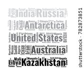 100 biggest countries word... | Shutterstock .eps vector #782873851