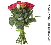 bouquet of different flowers on ... | Shutterstock . vector #782874931