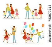 happy family portrait. father ... | Shutterstock . vector #782877115