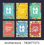 summer sale. colorful fashion... | Shutterstock . vector #782877271