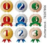 ranking medal set   Shutterstock .eps vector #78287806