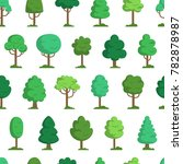 forest vector pattern with... | Shutterstock .eps vector #782878987