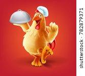 chef chicken vector | Shutterstock .eps vector #782879371