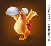 chef chicken vector | Shutterstock .eps vector #782879374