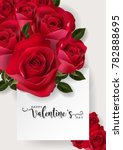 valentine's day greeting card...   Shutterstock .eps vector #782888695