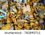 chanterelle mushroom for sale... | Shutterstock . vector #782890711