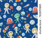 moon surface. kindergarten...   Shutterstock .eps vector #782899885