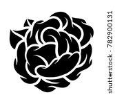 flower rose  black and white.... | Shutterstock .eps vector #782900131