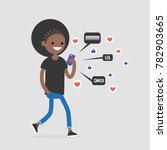 young black female walking... | Shutterstock .eps vector #782903665