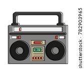 old radio stereo | Shutterstock .eps vector #782903965