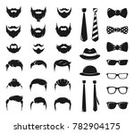 hipster portraits creation kit. ... | Shutterstock . vector #782904175