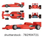 different sides of sport cars.... | Shutterstock . vector #782904721