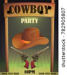 cowboy wild west saloon bar... | Shutterstock .eps vector #782905807