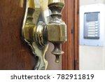 old bronze door knocker | Shutterstock . vector #782911819