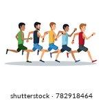 people running over white...   Shutterstock .eps vector #782918464