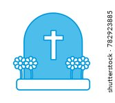 cemetery tombstone isolated | Shutterstock .eps vector #782923885