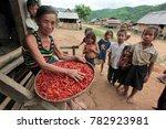 fishermen at the mekong river... | Shutterstock . vector #782923981