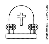 cemetery tombstone isolated | Shutterstock .eps vector #782924689