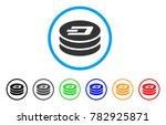 dash coin column rounded icon.... | Shutterstock .eps vector #782925871
