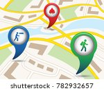 set of tourism services map... | Shutterstock .eps vector #782932657