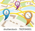 set of tourism services map... | Shutterstock .eps vector #782934001