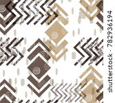 seamless pattern ethnic design. ... | Shutterstock . vector #782936194